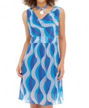 Printed Chiffon Silk Dress