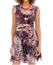 Digital Printed Chiffon Silk Dress
