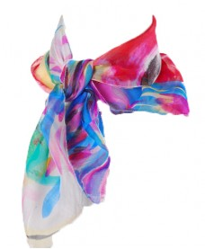 Digital Printed Chiffon Silk Scarf